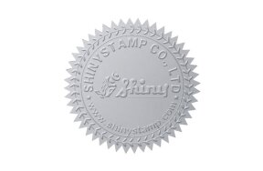 EMBOSSING LABELS D41mm SILVER